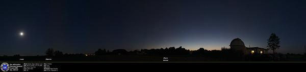 Venus And Jupiter Conjunction, pano with Saturn and Moon.