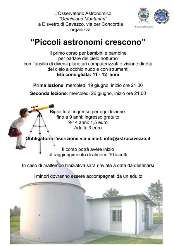 Piccoli Astonomi Crescono